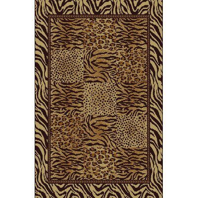 Christa Beige/Brown Area Rug Rug Size: 53 x 72