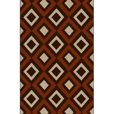 Lawanna Brown/Red Area Rug Rug Size: 711 x 910