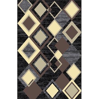 Arlandus Black Area Rug Rug Size: 711 x 910