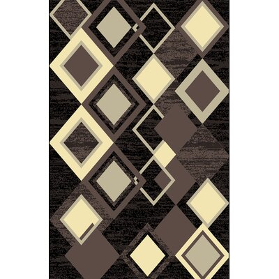 Jimi Brown Area Rug Rug Size: 711 x 910