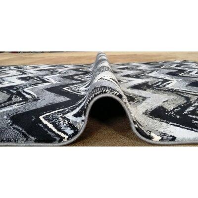 Geren Black Area Rug Rug Size: 10 x 13