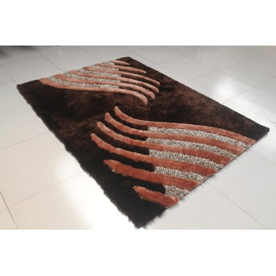 Kayonda Brown Area Rug Rug Size: 711 x 910