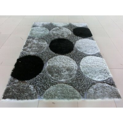 Aysegul Black/Gray Area Rug Rug Size: Runner 2 x 72
