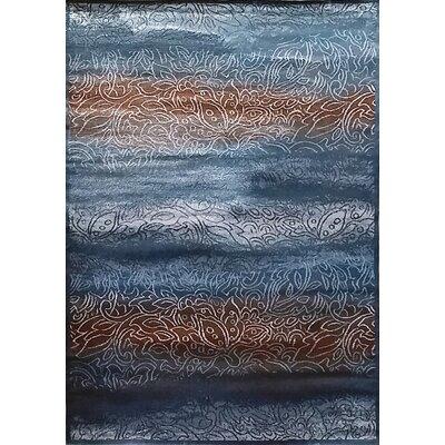 Ravensdale Blue Area Rug Rug Size: 53 x 72