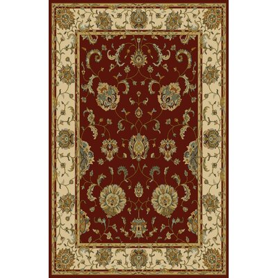 Floressa Red Area Rug Rug Size: Runner 27 x 910