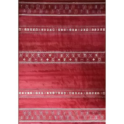 Keunta Red Area Rug Rug Size: 53 x 72