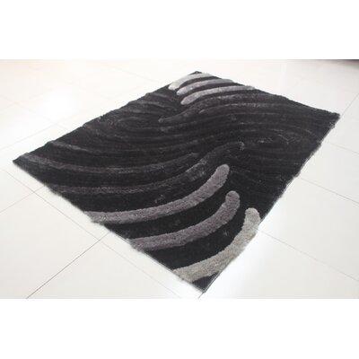 Deija Black/Gray Area Rug Rug Size: 711 x 910
