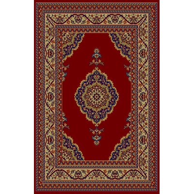 Cheri Red Area Rug Rug Size: 711 x 910