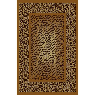 Denise Brown Area Rug Rug Size: 53 x 72