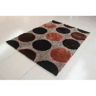 Rosalida Brown Area Rug Rug Size: 53 x 72