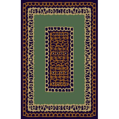 Carole Green/Brown Area Rug Rug Size: 53 x 72