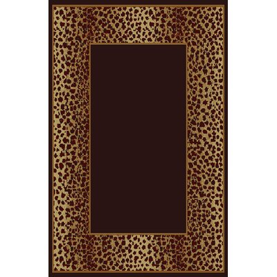 Debora Black/Brown Area Rug Rug Size: 53 x 72