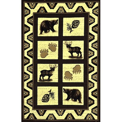 Blue River Brown Area Rug Rug Size: 53 x 72