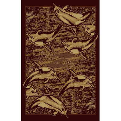 Deanna Brown Area Rug Rug Size: 53 x 72