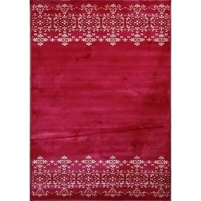 Cahlil Red Area Rug Rug Size: 53 x 72