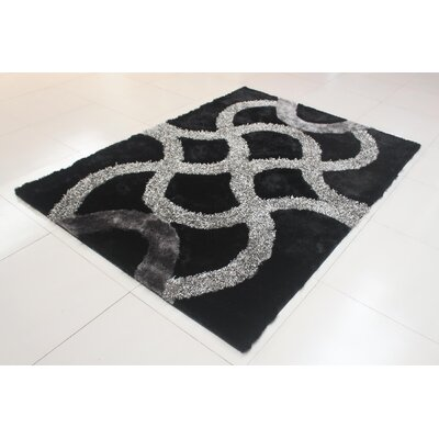 Jerin Black/Gray Area Rug Rug Size: Runner 2 x 72