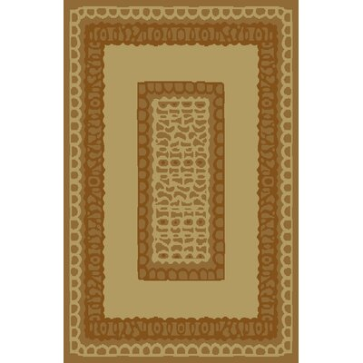 Carolyn Ivory/Brown Area Rug Rug Size: 53 x 72
