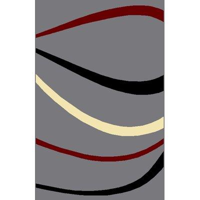 Shiena Gray Area Rug Rug Size: 53 x 72