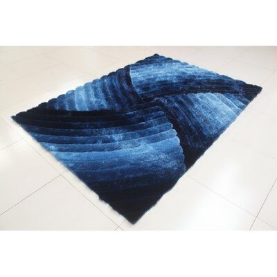 Shelie Rectangle Blue Area Rug Rug Size: 711 x 910