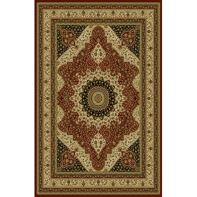 Sella Red/Green Area Rug Rug Size: 53 x 72