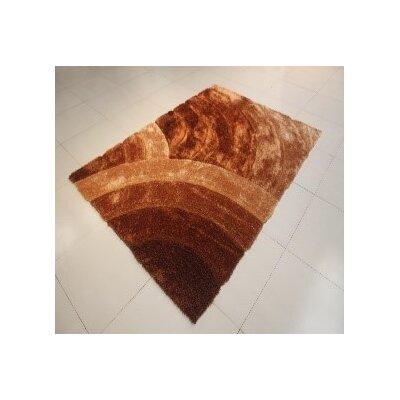 Arron Gold Area Rug Rug Size: 53 x 72