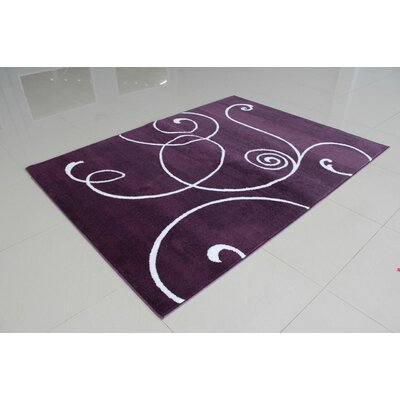 Markel Purple Area Rug Rug Size: 711 x 910