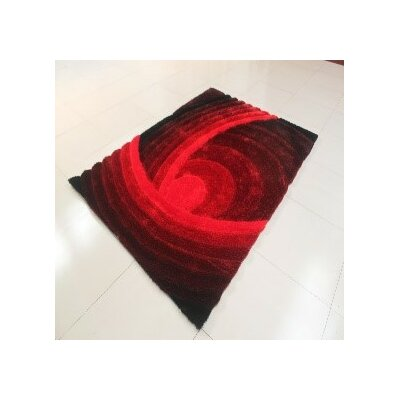 Reshmi Rectangle Burgundy Area Rug Rug Size: 53 x 72