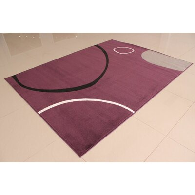 Gene Purple Area Rug Rug Size: 53 x 72