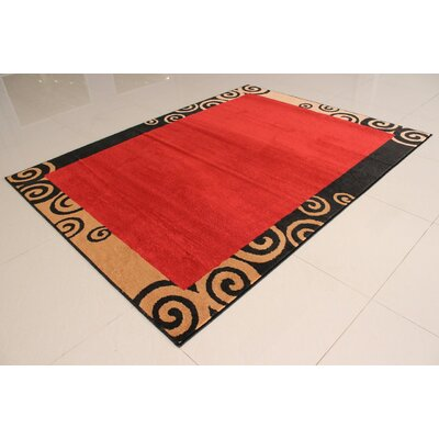 Thamm Orange Area Rug Rug Size: 711 x 910