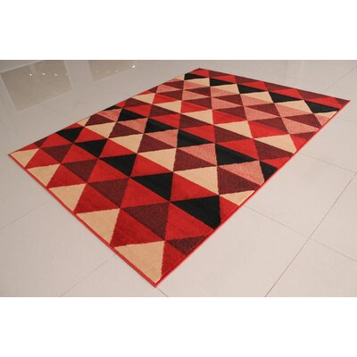 Poplin Orange Area Rug Rug Size: 53 x 72