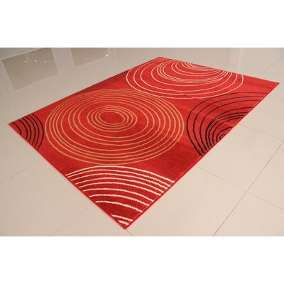 Rensel Orange Area Rug Rug Size: 53 x 72