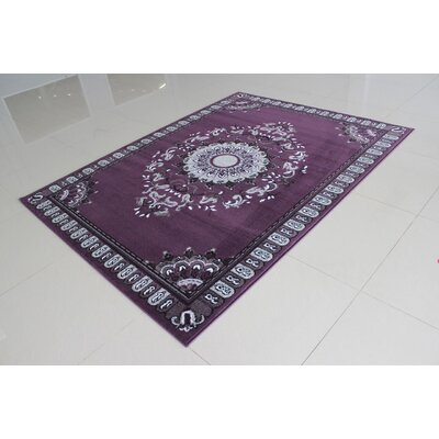 Cynthia Purple Area Rug Rug Size: Runner 2 x 72