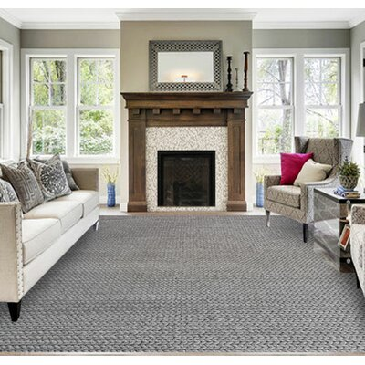 Shaeffer Gray Area Rug Rug Size: 53 x 72
