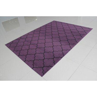 Rattew Quatrefoil Purple Area Rug Rug Size: 53 x 72