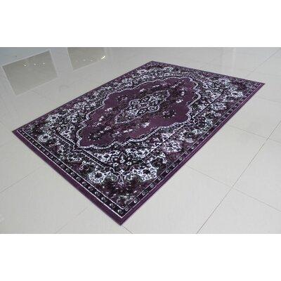 Dunstan Purple Area Rug Rug Size: 711 x 910