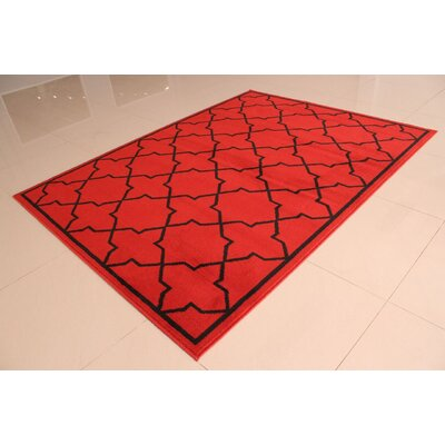 Carolan Orange Area Rug Rug Size: 53 x 72