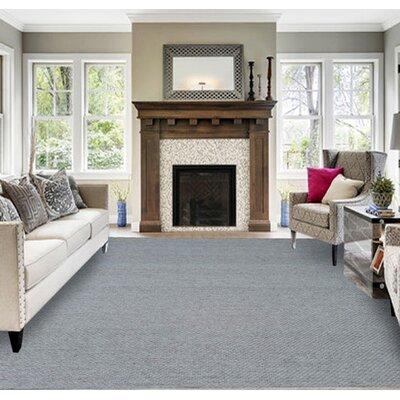 Setser Gray Area Rug Rug Size: 53 x 72