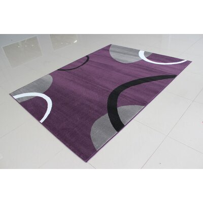 Gene Rectangle Purple Area Rug Rug Size: 711 x 910