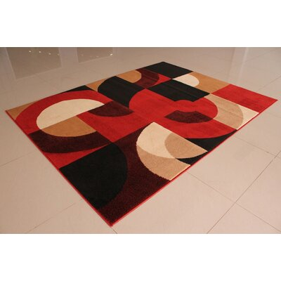 Adilet Geometric Orange Area Rug Rug Size: 711 x 910