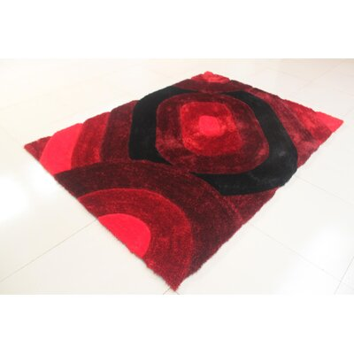Payal Burgundy Area Rug Rug Size: 53 x 72