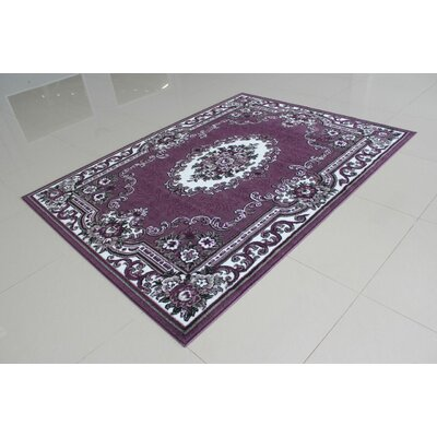Neumann Purple Area Rug Rug Size: 5'3