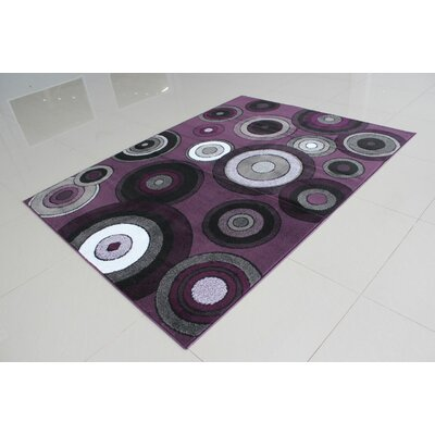 Juarez Purple Area Rug Rug Size: 53 x 72