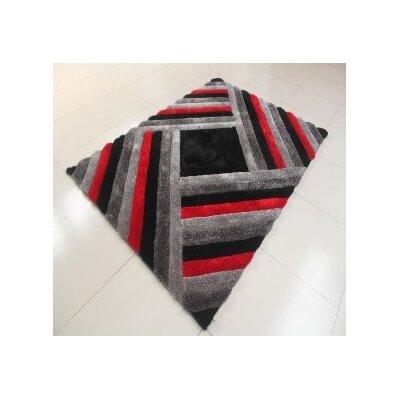 Danin Black/Gray Area Rug Rug Size: 711 x 910