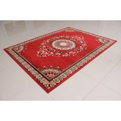 Cristina Orange Area Rug Rug Size: 53 x 72