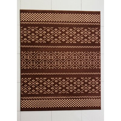 Harristown Brown Area Rug Rug Size: 53 x 72