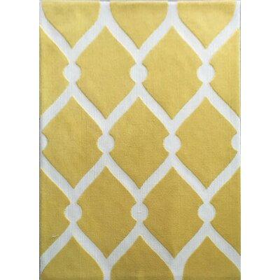 Damore Yellow Area Rug Rug Size: 53 x 72