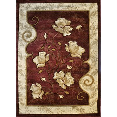 Pendle Burgundy Area Rug Rug Size: 5'3