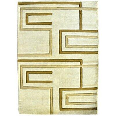 Yaron Ivory Area Rug Rug Size: 711 x 910