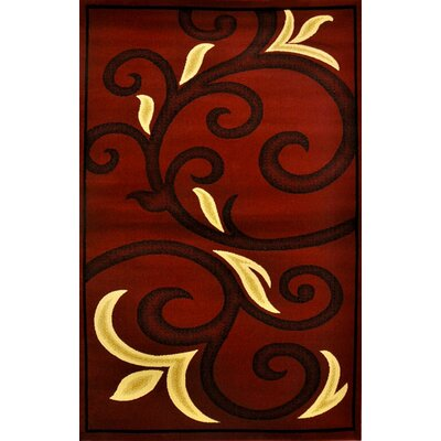 Harkness Burgundy Area Rug Rug Size: Rectangle 53 x 72