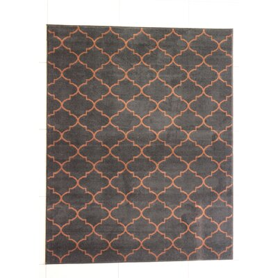 Harvel Black Area Rug Rug Size: 53 x 72